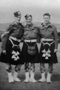 Campbeltown pals at Army Cadet Camp, Dunoon, 1948. I'm in the middle. Ian Brodie is on the left and Charlie Martin (I think) is on the right.