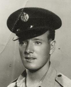 Airman Ian Morrans, Royal Air Force, 1951, RAF photo.