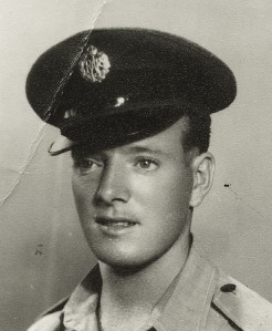Airman Ian Morrans, Royal Air Force, 1951, RAF photo.
