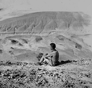 In my opinion, Egypt consisted of nothing but a whole lot of dirty sand. I'm looking over the sand dunes, 1951.