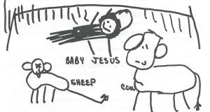 manger scene for Christmas story
