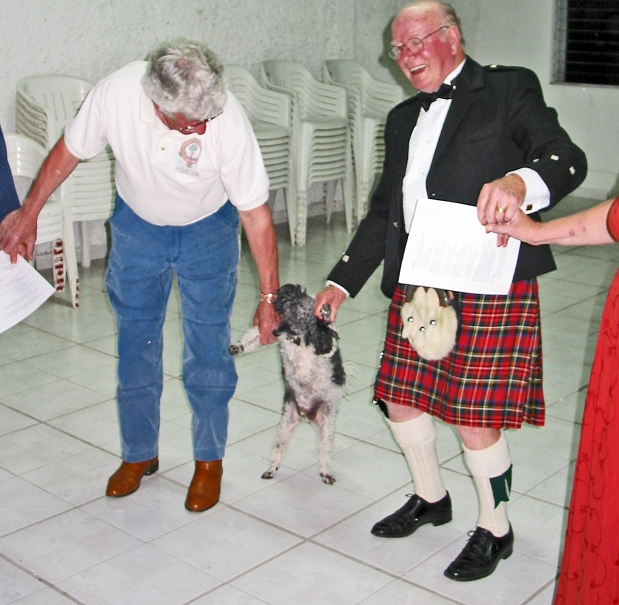 CANADIAN EX-PATS AND A POODLE CELEBRATE ROBBIE BURNS' DAY IN MEXICO