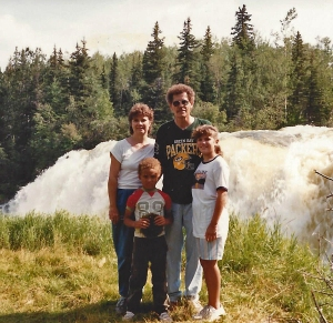 Johannessons at Pishew Falls MB 1988