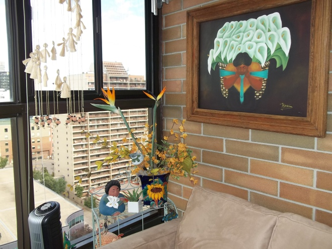 Balcony-Calla Lily & Sunflower art