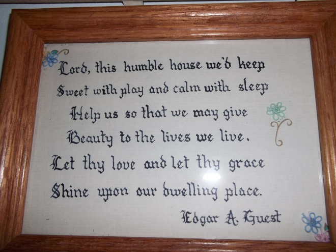 Hallway-House Blessing Plaque