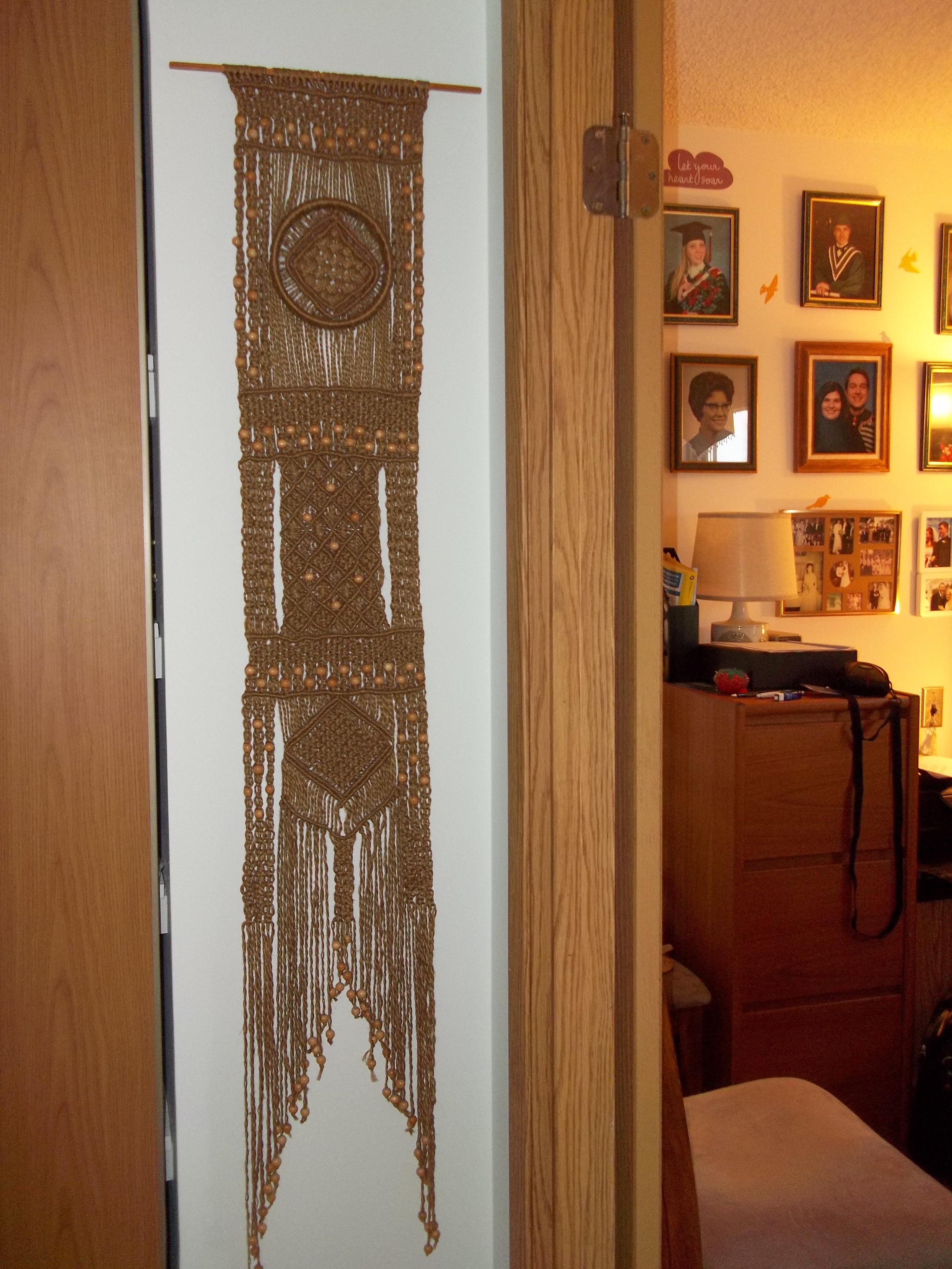 Hallway to Den - Macrame Hanging